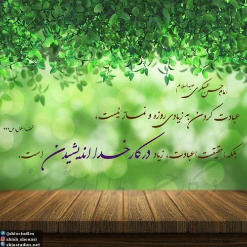 امام حسن عسکری علیه السلام: