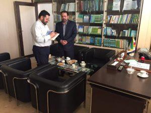 دیدار پروفسور سید فرمان علیشاه رضوی رئیس رشته شیمی دانشگاه ملی مهران با دکتر آیت پیمان