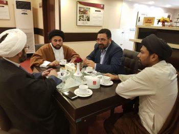 جلسه کاری با حجج اسلام دکتر نبی رضا عابدی و دکتر بدیعی و دکتر سید هدایت رضوی