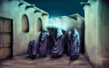 افراد حاضر در تشییع پیکر مطهر حضرت فاطمه