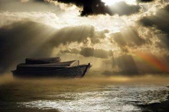 نام مبارک پنج تن بر روی میخ کشتی حضرت نوح
